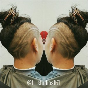 Slick design!! Hair by @catchafade2015 Locates at @ti_studios161