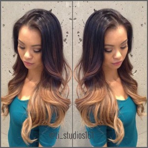 Ombré for days on this lovely. Hair by @houseofgen