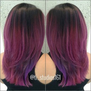 Always fun with @paulinelaguardia Pinks and purples Hair by @houseofgen Located at @ti_studios161